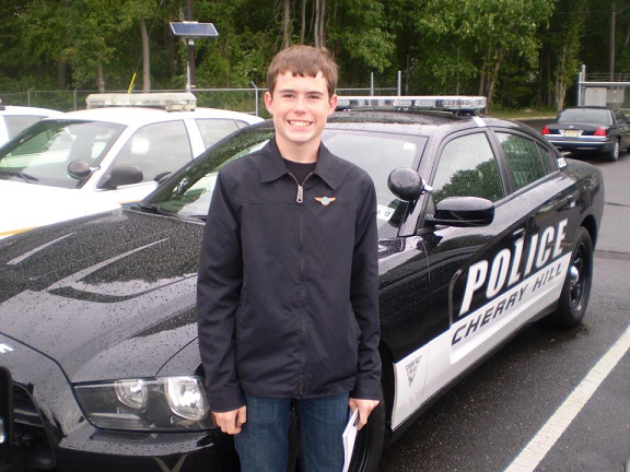 Reporter Justin Gick learns about the new police cars in Cherry Hill.